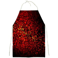 Red Particles Background Full Print Aprons