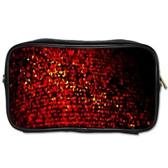 Red Particles Background Toiletries Bags