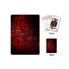 Red Particles Background Playing Cards (mini)