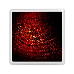 Red Particles Background Memory Card Reader (square)  by Nexatart