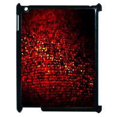 Red Particles Background Apple Ipad 2 Case (black)
