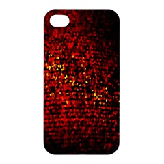 Red Particles Background Apple Iphone 4/4s Premium Hardshell Case by Nexatart