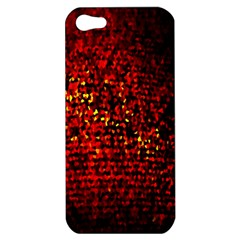 Red Particles Background Apple Iphone 5 Hardshell Case