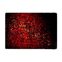 Red Particles Background Apple Ipad Mini Flip Case by Nexatart