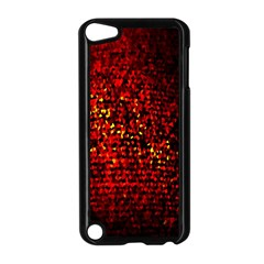 Red Particles Background Apple Ipod Touch 5 Case (black)