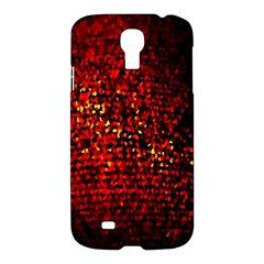 Red Particles Background Samsung Galaxy S4 I9500/i9505 Hardshell Case by Nexatart