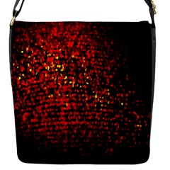 Red Particles Background Flap Messenger Bag (s) by Nexatart