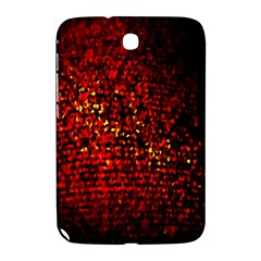 Red Particles Background Samsung Galaxy Note 8 0 N5100 Hardshell Case  by Nexatart