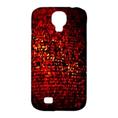 Red Particles Background Samsung Galaxy S4 Classic Hardshell Case (pc+silicone)
