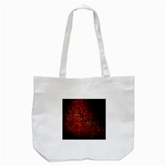 Red Particles Background Tote Bag (white) by Nexatart