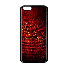 Red Particles Background Apple Iphone 6/6s Black Enamel Case