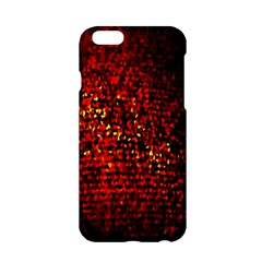 Red Particles Background Apple Iphone 6/6s Hardshell Case by Nexatart