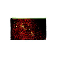 Red Particles Background Cosmetic Bag (xs) by Nexatart