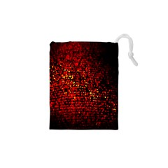 Red Particles Background Drawstring Pouches (xs)  by Nexatart