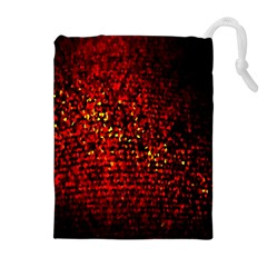 Red Particles Background Drawstring Pouches (extra Large) by Nexatart