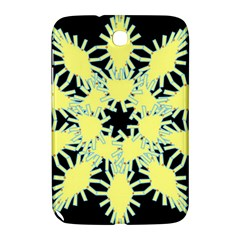 Yellow Snowflake Icon Graphic On Black Background Samsung Galaxy Note 8 0 N5100 Hardshell Case
