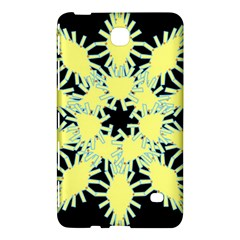Yellow Snowflake Icon Graphic On Black Background Samsung Galaxy Tab 4 (7 ) Hardshell Case