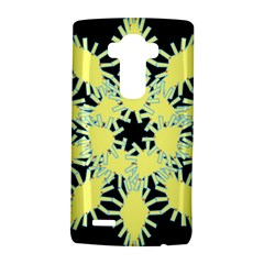 Yellow Snowflake Icon Graphic On Black Background Lg G4 Hardshell Case by Nexatart