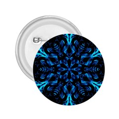 Blue Snowflake On Black Background 2 25  Buttons by Nexatart