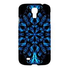 Blue Snowflake On Black Background Samsung Galaxy S4 I9500/i9505 Hardshell Case