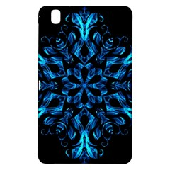 Blue Snowflake On Black Background Samsung Galaxy Tab Pro 8 4 Hardshell Case