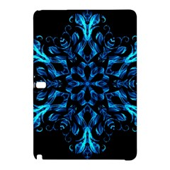 Blue Snowflake On Black Background Samsung Galaxy Tab Pro 12 2 Hardshell Case by Nexatart