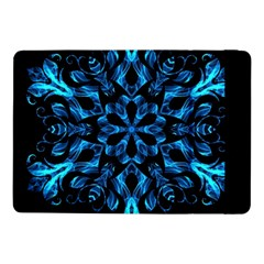 Blue Snowflake On Black Background Samsung Galaxy Tab Pro 10 1  Flip Case