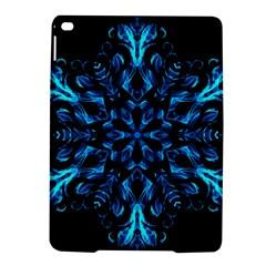Blue Snowflake On Black Background Ipad Air 2 Hardshell Cases by Nexatart