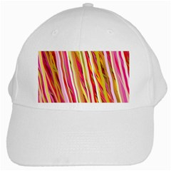 Color Ribbons Background Wallpaper White Cap by Nexatart