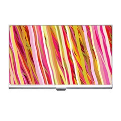 Color Ribbons Background Wallpaper Business Card Holders by Nexatart