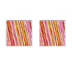 Color Ribbons Background Wallpaper Cufflinks (square) by Nexatart