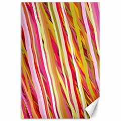 Color Ribbons Background Wallpaper Canvas 24  X 36  by Nexatart