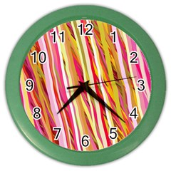 Color Ribbons Background Wallpaper Color Wall Clocks by Nexatart