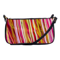 Color Ribbons Background Wallpaper Shoulder Clutch Bags by Nexatart