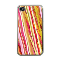 Color Ribbons Background Wallpaper Apple Iphone 4 Case (clear)