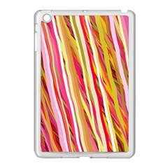 Color Ribbons Background Wallpaper Apple Ipad Mini Case (white)