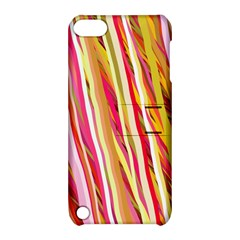 Color Ribbons Background Wallpaper Apple Ipod Touch 5 Hardshell Case With Stand