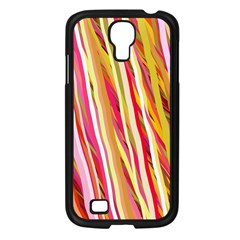 Color Ribbons Background Wallpaper Samsung Galaxy S4 I9500/ I9505 Case (black) by Nexatart