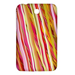 Color Ribbons Background Wallpaper Samsung Galaxy Tab 3 (7 ) P3200 Hardshell Case  by Nexatart