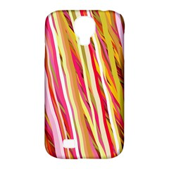 Color Ribbons Background Wallpaper Samsung Galaxy S4 Classic Hardshell Case (pc+silicone)