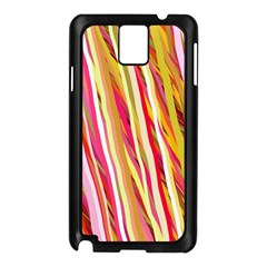Color Ribbons Background Wallpaper Samsung Galaxy Note 3 N9005 Case (black)