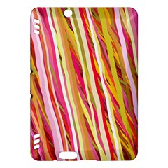 Color Ribbons Background Wallpaper Kindle Fire Hdx Hardshell Case by Nexatart