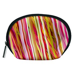 Color Ribbons Background Wallpaper Accessory Pouches (medium)