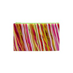 Color Ribbons Background Wallpaper Cosmetic Bag (xs) by Nexatart