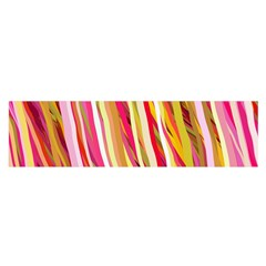 Color Ribbons Background Wallpaper Satin Scarf (oblong) by Nexatart