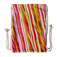 Color Ribbons Background Wallpaper Drawstring Bag (large) by Nexatart