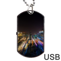 Frozen In Time Dog Tag Usb Flash (two Sides)