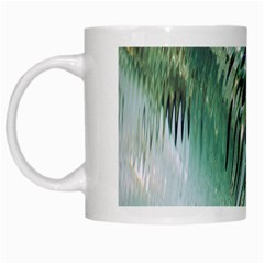 Out Of Time Glass Pearl Flowag White Mugs by Nexatart