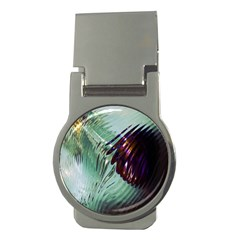 Out Of Time Glass Pearl Flowag Money Clips (round)