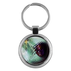 Out Of Time Glass Pearl Flowag Key Chains (round)